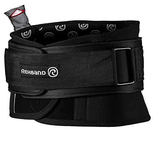 Ziatec Edition Rehband X-RX Back Support - extrem belastbare Rückenbandage | Rückenstütze für schwere Tätigkeiten, Größe:L, Farbe:schwarz