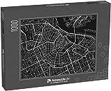 fotopuzzle.de Puzzle 1000 Teile Schwarz-Weiß-Vektor-Stadtplan von Amsterdam mit gut organisierten, getrennten Ebenen (1000, 200 oder 2000 Teile)