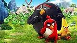 La Película De Angry Birds Puzzle 500 Piezas De Madera-Juguetes Educativos para Adultos Juegos Infantiles-Juguetes Educativos Decoración De Rompecabezas, 20In X 15In
