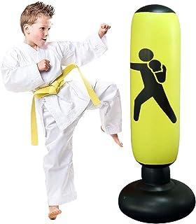 JanTeelGO Saco de Boxeo, Saco de Boxeo de pie de 160 cm para un Rebote inmediato para Practicar Karate, Taekwondo y aliviar Pent Up Energy en niños