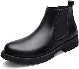 JQfashion Plus Size Chelsea Boots Men Winter Shoes Artificial Leather Boots Mens Footwear Warm Boots