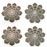 4 soportes para varillas de incienso de loto, Ash Catcher, loto, para varillas...