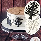 Hengke 2 Pcs Trees Without Leaves,Withered Trees,Food Grade Safety Silicon Materials,Halloween Carnival Party Mold for Cake Decorating,Sugarcraft,Chocolate,Cupcake Topper,Pastry,Polymer Clay,DIY
