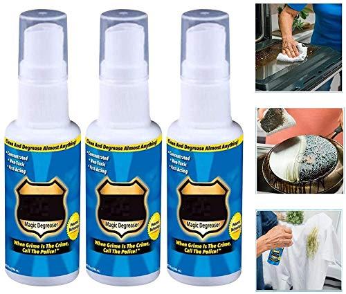 Xcvbnm Magic Degreaser Cleaner Spray Küche Badezimmer Home Verdünnter Schmutz & Öl, 30 ml Fett Police Cleaner Spray verdünnt Schmutz und Öl für Küchen, Badezimmer, Hochleistungsöfen (3pcs)