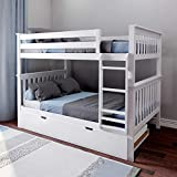 Max & Lily Bunk Trundle Bed, Full, White