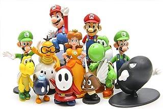 12 Super Mario Doll Decorations Exquisite Garage Kit  Cute Super Mario Bros Bowser Koopa Yoshi Mari PVC Action Figures Mod...