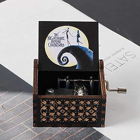 lasergraviert Vintage-Spieluhr aus Holz Ahmedi Holz-Spieluhren Geschenk f/ür Geburtstag//Weihnachten//Valentinstag
