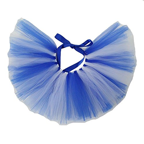 PAWPATU Team Spirit Tulle Tutu for Medium Dogs, Handcrafted in USA, Blue and White