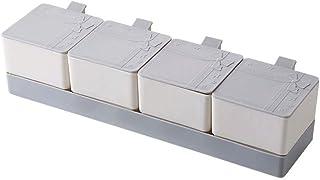 WZHZJ Spice Pot Can Sel Poivre Spice Container Assaisonnement Boîte Sel Sucre Marmite Boîtes Condiment de Cuisine Spice Cr...