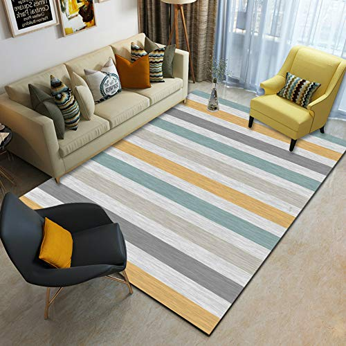 XTUK Home Decor Teppich Traditional Nordic Geometric Rectangle Carpet Strapazierfähiger Teppichrücken Wohnzimmer Teppich Kinderzimmer Schlafzimmer Sofa Matte Teppich Nachttisch 180 * 230cm
