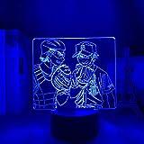 Luces LED 3D Night Light Diamond Ace animación, decoración de habitaciones, regalo de cumpleaños para niños, luces de cómic en 3D, para habitación o como regalo de cumpleaños para niños.