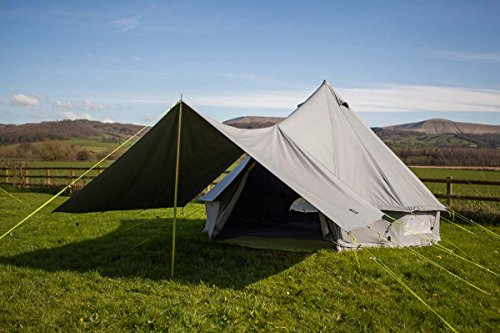 360 x 240cm AWNING ONLY 100% Cotton Canvas Suitable for 3m 4m 5m 6m Bell Tent Available in Sand or Grey