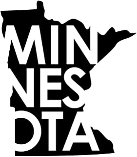 ND228 Minnesota State Decal Sticker | 6.5-Inches By 5.7-Inches | Premium Quality Black Vinyl