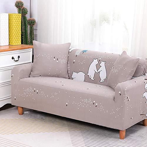 HXTSWGS Funda de sofá Antideslizante,Funda de sofá elástica, Tejido elástico, Funda Protectora para Muebles-Gris_90-140cm