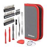 Hi-Spec Set de 49 Piezas de Puntas de Destornilladores de Precisión y Kit para Desmontar y Reparar Móviles Android, iPhones, MacBooks, Portátiles, Tabletas, Consolas de Videojuegos