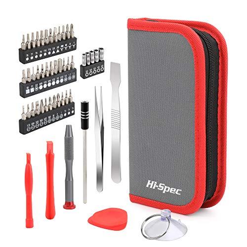 Hi-Spec 49 teiliges Präzisionswerkzeugset mit Schraubendreherbits für Reparaturen von Handy, TV, Laptops, Spielkonsolen, Notebooks und elektrischen Geräten in einem stabilen Etui