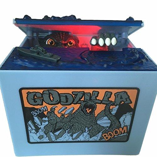 AlienTech Godzilla Monster Dinosaurier Moving Led Musikalische Elektronische Kinder Münze Bank Sparschwein Geld Spardose Spardosen