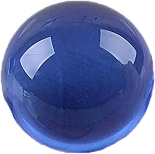 Queenbox 40mm Asian Rare Natural Quartz Magic Crystal Healing Ball Sphere Collectibles Home DIY Decor,Blue