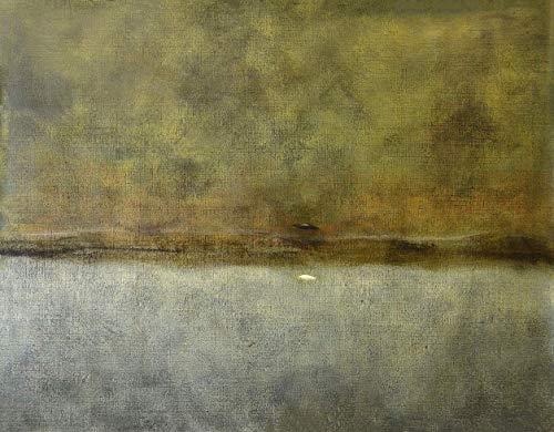 Stampa Artistica su Tela hd Dipinto Pittura Quadro Arte Moderna Astratta, 90X110 cm. Luca Bonfanti,'Tempo Divino-Dicotomia'''