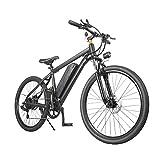 Bicicleta Electrica MTB Hombre E-Bike Montaña Adultos BTT 7 Velocidad 350W 25KM/H 26 Pulgadas