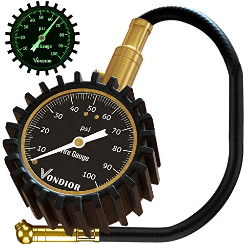 Tire Gauge - (0-100 PSI) Heavy Duty Tire Pressure Gauge. Certified...