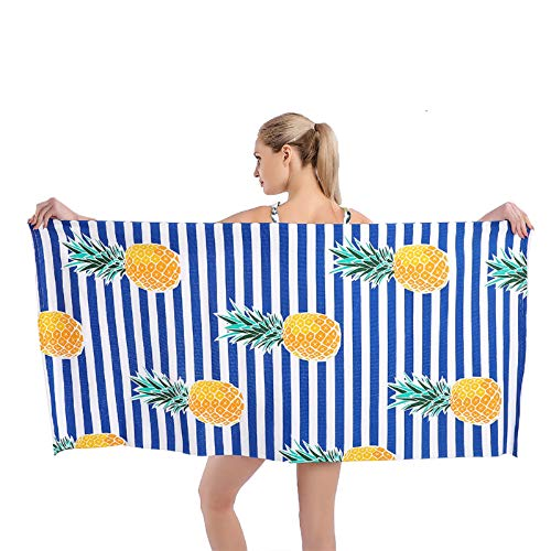 KavRave Beach Towel, Oversized Microfiber Beach Towels for Travel, Quick Dry Towel for Swimmers Sand Proof Beach Towels for Women Men Girls, Cool Pool Towels Beach Accessories Super Absorbent Towel