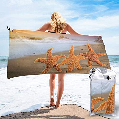 YUYUTE Toalla de baño, Beach Starfish Outdoors Microfiber Quick Dry Travel Towel,for Gym,Sports,Thin Lightweight,Shower Towels
