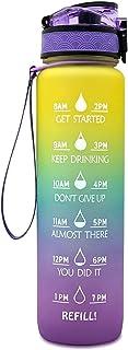 Eastdall Garrafa de água esportiva com marcador de tempo BPA grátis e à prova de vazamentos Chaleira portátil reutilizável...