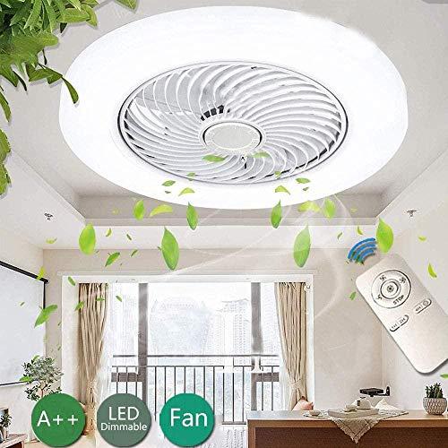 YQM Ventilador De Techo Led con Luz Y Control Remoto Silencio Luz De Techo Moderna Lámpara De Techo Regulable Ventilador Stealth Sala De Estar Dormitorio Cocina Habitación para Niños Lámpara De Techo