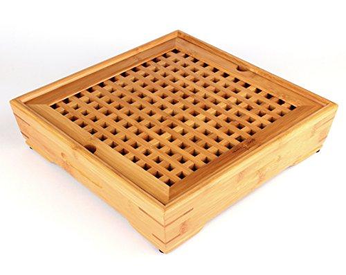 Teetablett Chapan - Teetisch aus Bambus für chinesische Teezeremonie Gong Fu Cha (30x30 cm)