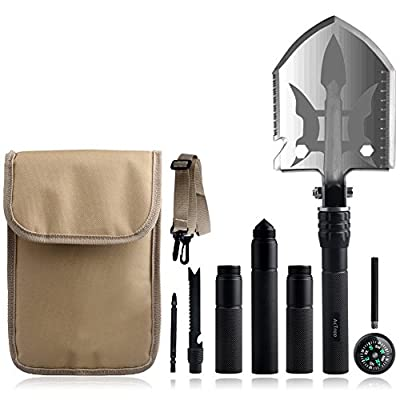 AcTopp Outdoor Military Folding Shovel Multitool - survival Shovel for Camping Backpacking Fishing- Portable, Multifunctional, Compact Emergency Kit, Heavy Duty Survival Gear from AcTopp