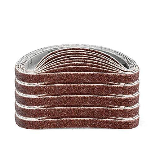 GIPOTIL 10 Uds 10x330mm cinturones de lijado abrasivos 1000 herramientas de pulido de lijado para lijadoras herramientas rotativas eléctricas, grano 600