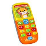 Early Education 6 Month Year Olds Baby Toy Tiny Touch Phone Musical Sound Telephone Toys for Children & Kids Boys and Girls by EastSun