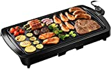 IKICH Electric Griddle, 1600W Indoor Smokeless Nonstick Electric Pancake Grill with Drip Tray
