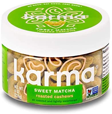 Karma Nuts Cashews 8 Ounce Reusable Jar Whole Roasted Keto Friendly Vegan Non Gmo Gluten Free product image