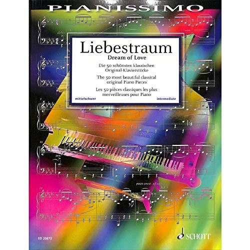 Die 50 schönsten klassischen Original-Klavierstücke aus Barock, Klassik, Romantik und Moderne - Reihe Pianissimo von Hans-Günter Heumann - (mit bunter herzförmiger Notenklammer)