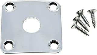 Dopro Chrome Metal Curved Base Bottom Jack Plate Square Jackplate fits Gibson LP Les Paul