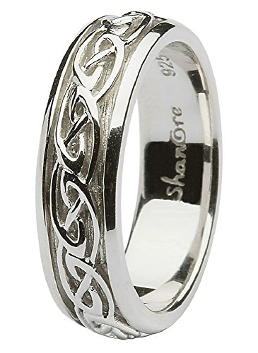 Sterling Silver Women's Celtic Wedding Ring (6)