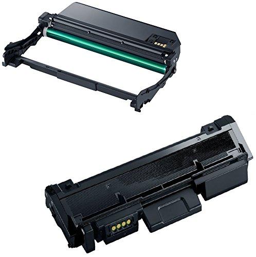 Toner MLT-D116L mit Trommel MLT-R116 kompatibel für Samsung Xpress SL-M2625 M2625D M2675F M2675FN M2676 M2825DW M2825ND M2835 M2835DW M2875FD M2875FW M2875ND M2885 M2885FW - Schwarz, hohe Kapazität