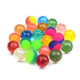 Onepine 24 Pieces 3 Styles Bouncy Balls Bulk Set for Kids Mixed Colored Mini Super Bouncy Ball,Can Float on The Water...