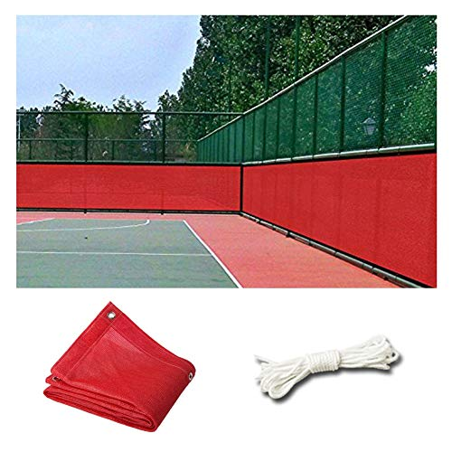 LIANGLIANG Sunblock Shade Cloth, Outdoor Playground Fence Patio Sun Protection Cool Down Encryption Edge Edging Stretch Resistance, Red, Customizable (Color : Red, Size : 4x6m)