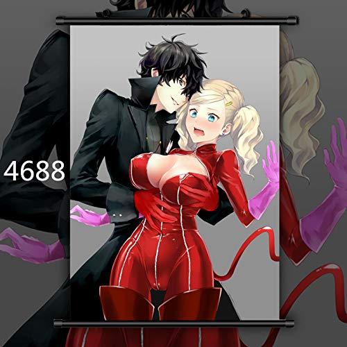 FKnbM Shin Megami Tensei Persona 5 Joker Panther Queen Anime Manga Wall Poster Scroll 40x60cm 4688