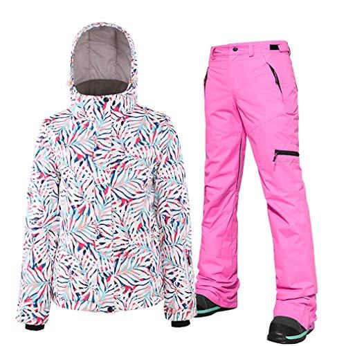 Skipak, voor dames, ski-jack en broek, set 2, snowboardbroek, outfit, winddicht, waterdicht en ademend, sneeuw voor de winter
