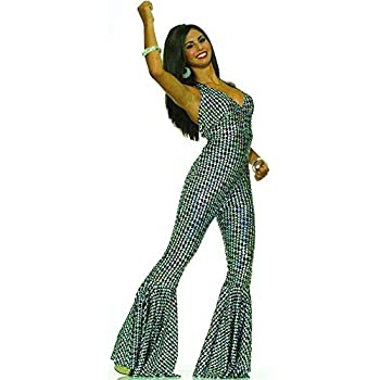 Forum Novelties Women s Boogie Dancing Babe 70 s Costume Silver/Black X-Small/Small