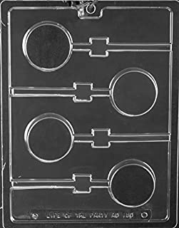 Plain Cookie Lollipop Chocolate Mold - AO150 - Includes Melting & Chocolate Molding Instructions