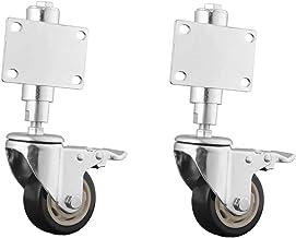 2 stks Meubilair Casters Heavy Duty Casters Lente-geladen poort Castor Wiel 75mm / 100mm Veerbelast Gate Wheel met BREMESS...