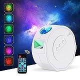 Proyector LED Galaxy de cielo estrellado, 3D, con mando a distancia, control de voz, 7 colores, efecto Aurora, luz de niebla, luz nocturna, regalo para bebés, cumpleaños, fiestas, Navidad