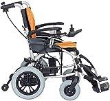 LLKK - Silla de ruedas eléctrica, desmontable, ligera, plegable, para personas mayores con discapacidad de cuatro ruedas, automático, inteligente
