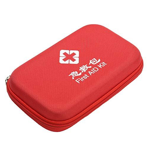 Eshow Oxford Gewebe Medizintasche für Notfälle Betreuertasche Reiseapotheke Tasche Erste Hilfe Set Medizinkoffer Sanitätstasche Rot 21 cm (L) x 4.7 cm (W) x 13.5cm (H)