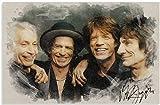 ZYHSB Rolling Stones Leinwand Poster Und Druck Wandkunst